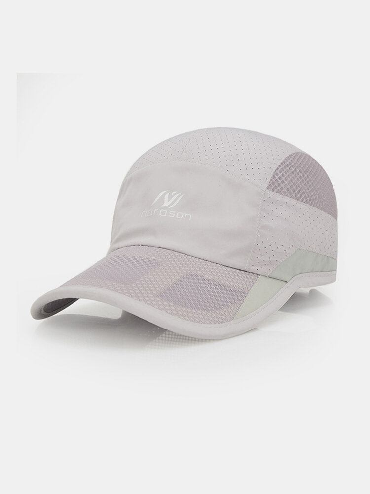 Mens Womens Ultra-thin Quick-drying Anti-UV Baseball Cap Outdoor Casual Breathable  Carved Net Hat