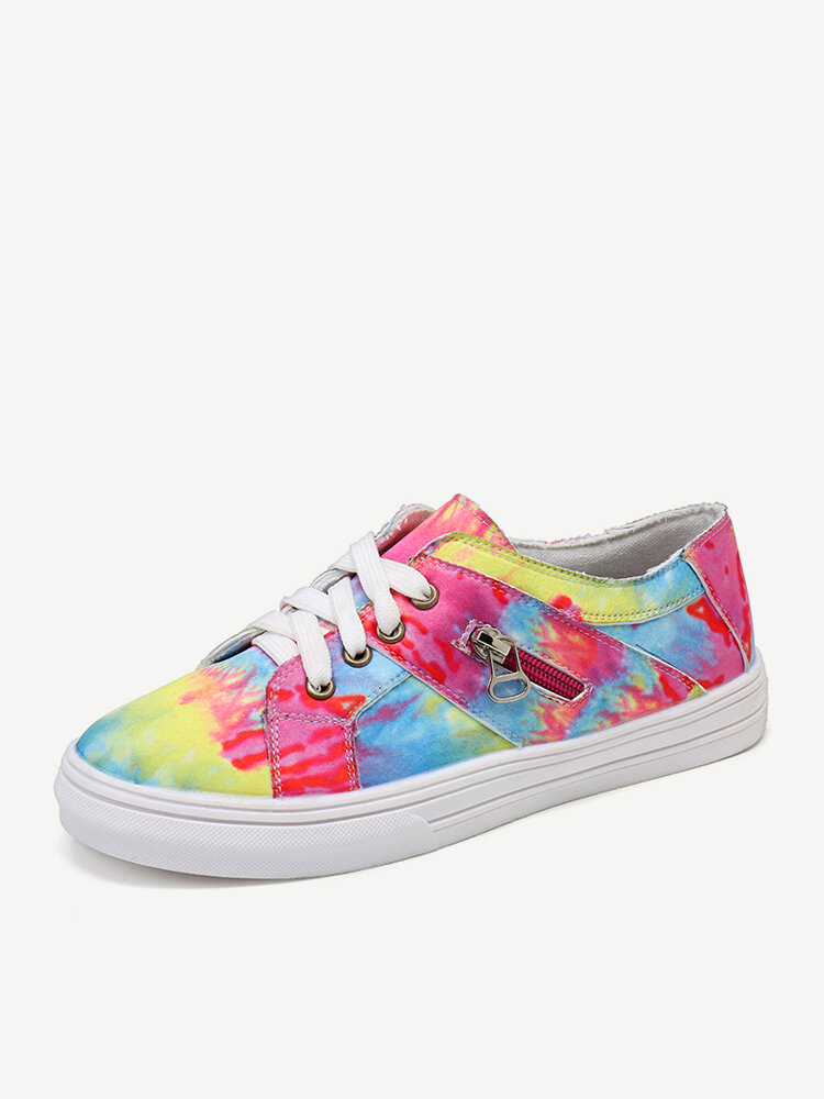 Women Hand Painted Decor Shallow Comfy Breathable Casual Flats