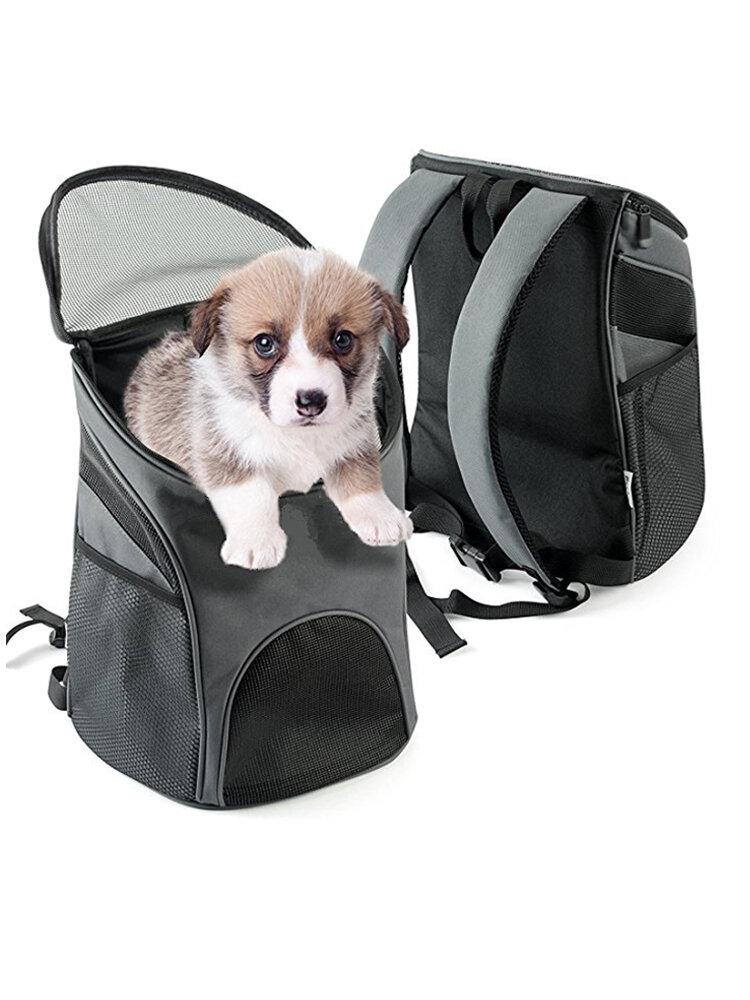 Pet Carrier Premium Travel al aire libre Mochila de malla Bolsa Accesorio Perro Gato Conejo pequeño Mascotas Jaula