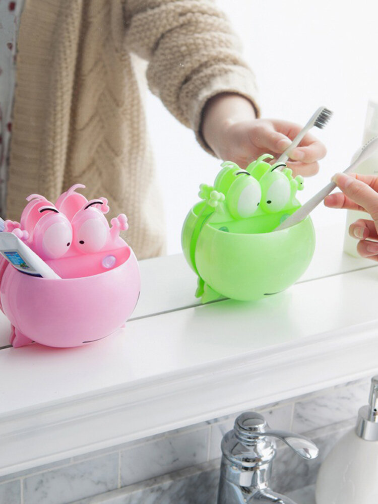 Frog Wall Hanging Toothbrush Racks Suction Cup Holder