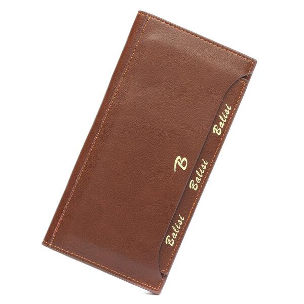 Men Casual Business Long Large Capacity Wallet Cash Cards Coins Purse