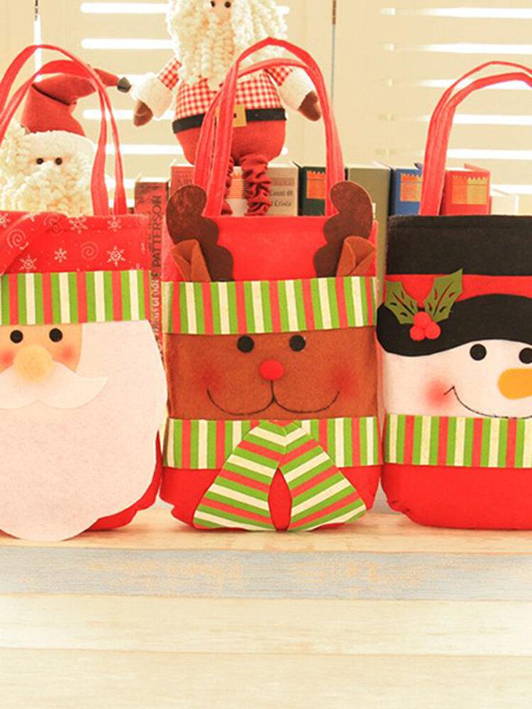 Christmas Decoration For Christmas Men Send Gifts Packge Candy Decorative Handbag Non-woven Fabrics