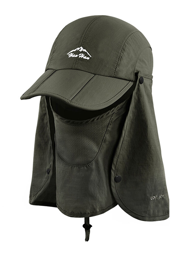 Sun Protection Foldable Cover Face Visor Outdoor Fishing Hat Summer Quick-drying Cap Breathable Hat Baseball Cap
