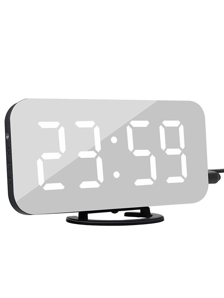 Creative Alarm Clock LED Display Electronic Snooze Digital Backlight Mute Mirror