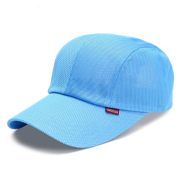 Men Women Ultra-thin Quick-drying Mesh Breathable Baseball Cap Outdoor Casual Hat