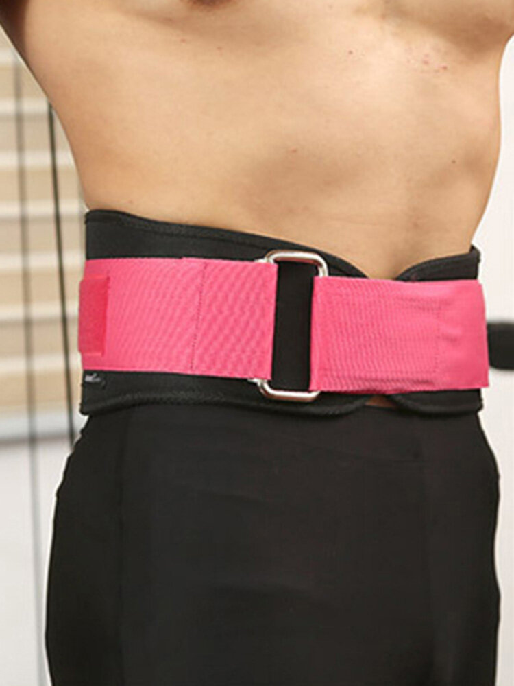 Mens Adjustable Waist Support Weightlifting Fitness Training Compression Belly Belt Waistband