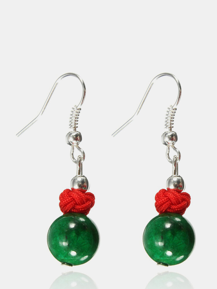 Ethnic Style Jewelry Alloy Turquoise Agate Earrings