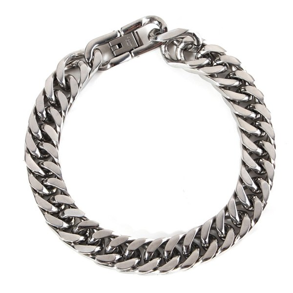 316L Stainless Steel Classical Silver Tone Bracelet