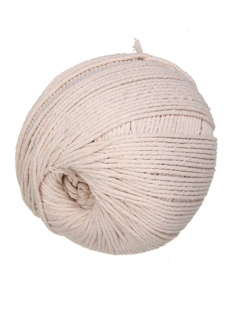 Corda intrecciata in cotone Fascio di iuta fatto a mano Corda per decorazioni per la casa Artigianato 5mm / 100M