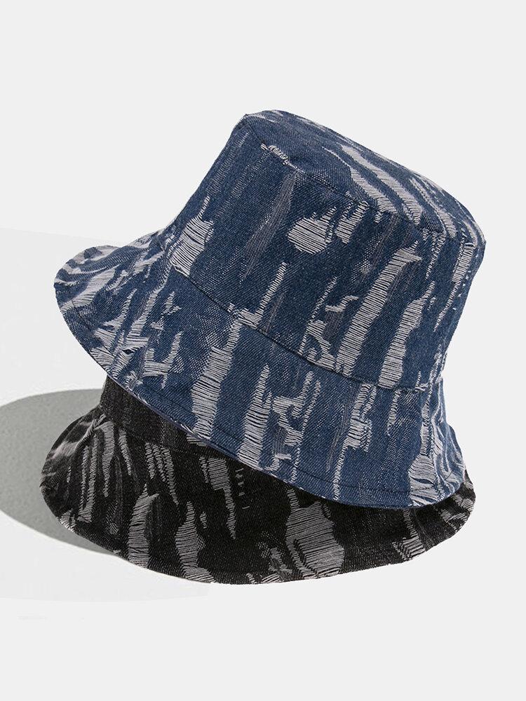 Women & Men Retro Washed Cotton Denim Outdoor All-match Travel Bucket Hat