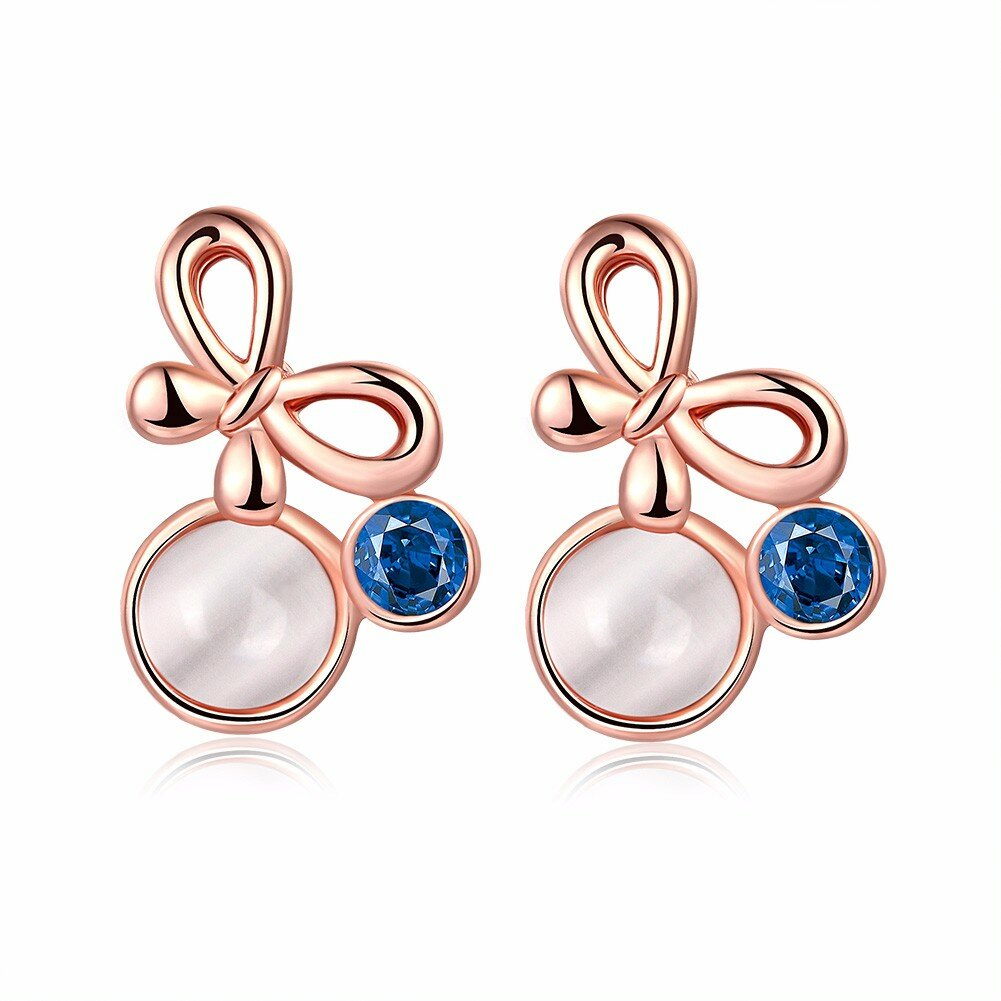 INALIS® Bowknot Opal Crystal Earrings for Women Gift