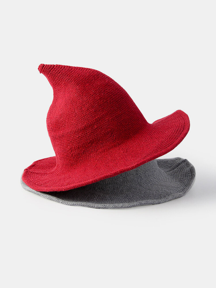 Cashmere Wool Funny Witch Hat Party Festival Knit Fedora Hat
