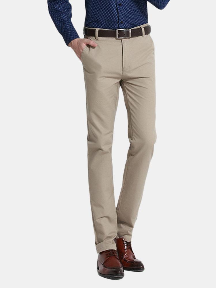Pantalon de costume décontracté en coton pour hommes Classic