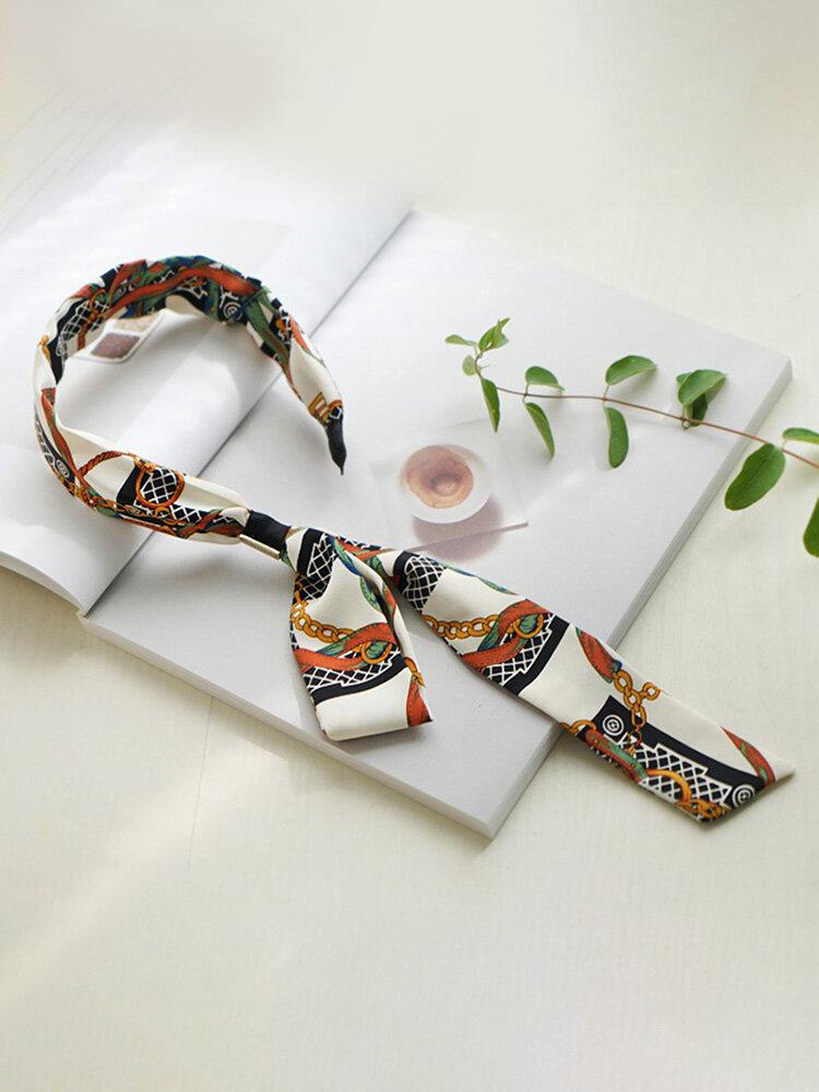 Bohemian Temperament Satin Streamer Headband Bow Tie Headband