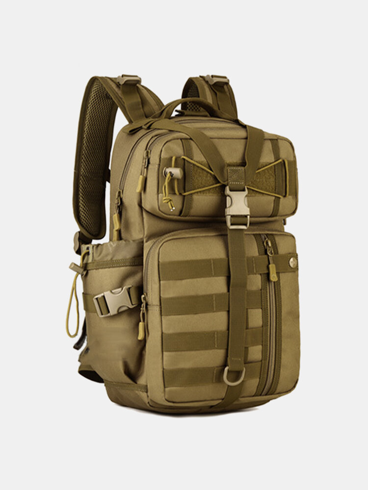 Men Canvas 30L Outdoor Tactical Hiking Riding Travel Backpack