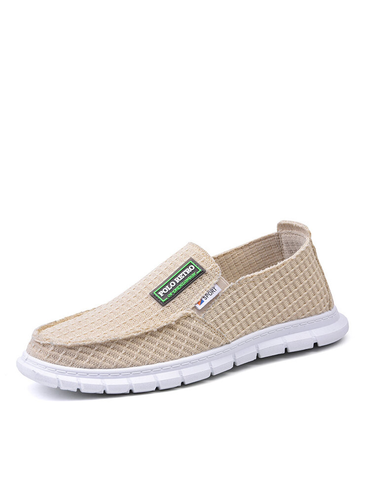 Men Slip-on Round Toe Breathable Light Weight Casual Daily Flats