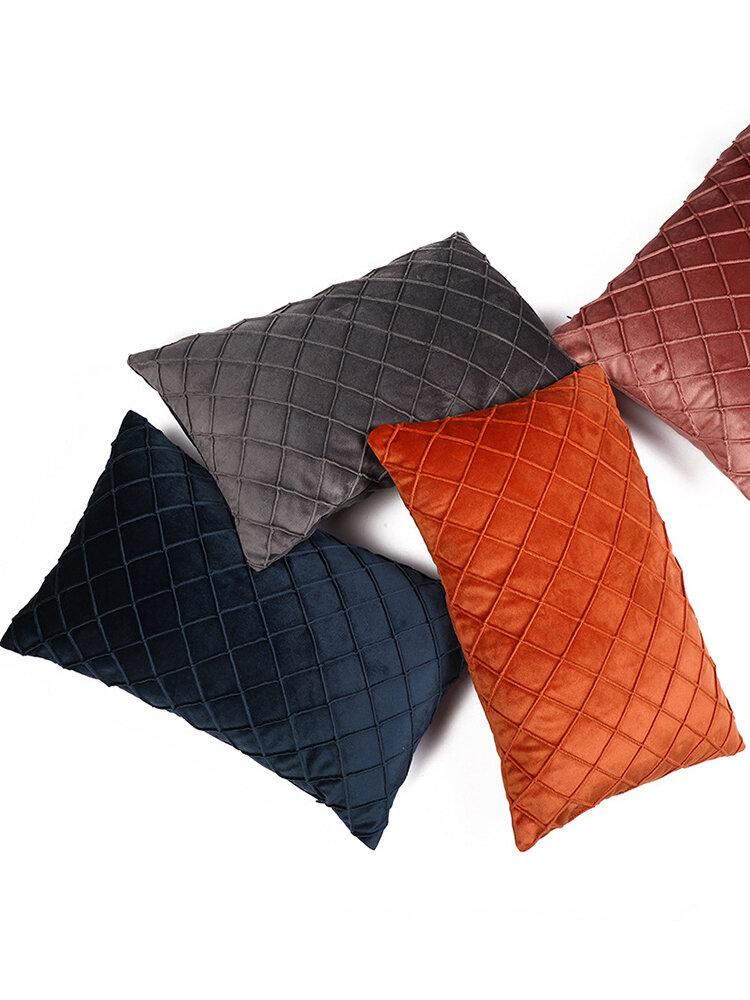 Einfarbige Rechteck Hug Kissenbezug Sofa Rückenlehne Kissen Kissen Hug Kissenbezug Office Lumbar Hug Kissenbezug