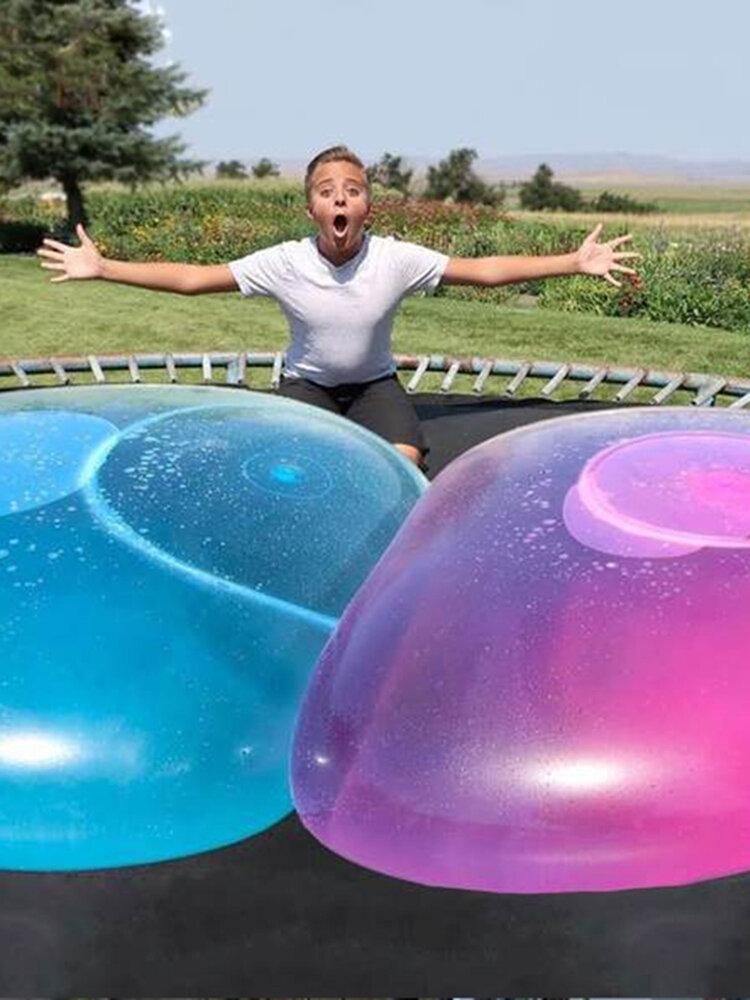 Ballon à bulles ballon drôle jouets balles enfant Transparent rebondissant ballons ronds pour décorations pour les activités de plein air des enfants