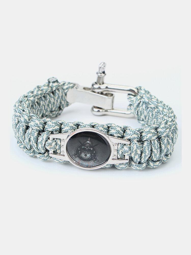 Survival Weave Nylon Rope Kits Bracelet