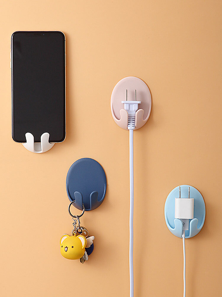 1PC Strong Adhesive Hook Power Plug Socket Hanger Holder Wall Mounted Hooks for Kitchen Bathroom Accessories