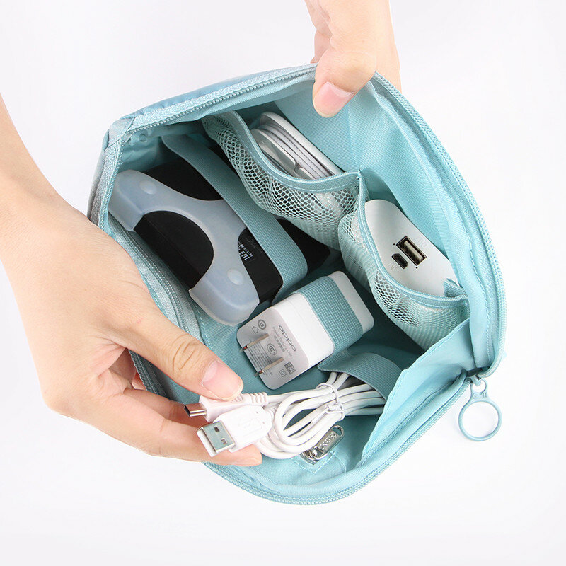SaicleHome Digit Data Bag Headphone Protective Case Coin Money Storage Container