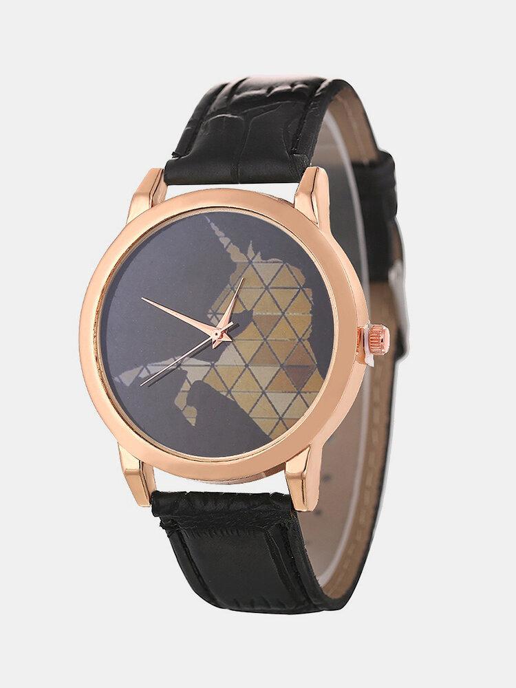 Fashion Minimalist Quartz Watch Waterproof Leather Watch For Couple Watch