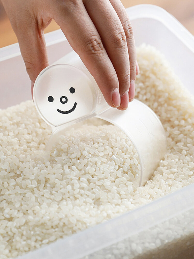 Transparent Scale Quantitative Scoop Rice Cup Household Two-in-one Multi-function Rice Measuring Cup