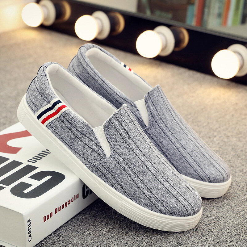 Men Fabric Comfy Breathable Slip On Casual Shoes