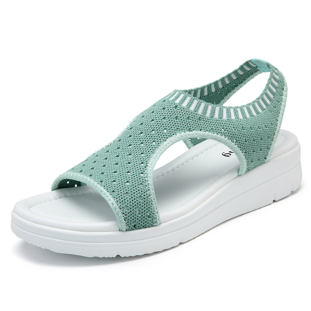 Mesh Breathable Slip On Flat Lazy Sandals