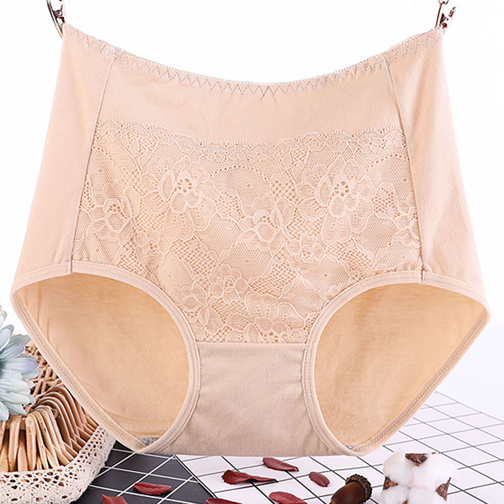 6XL Plus Size Cotton High Waisted Lace Butt Lifter Panties