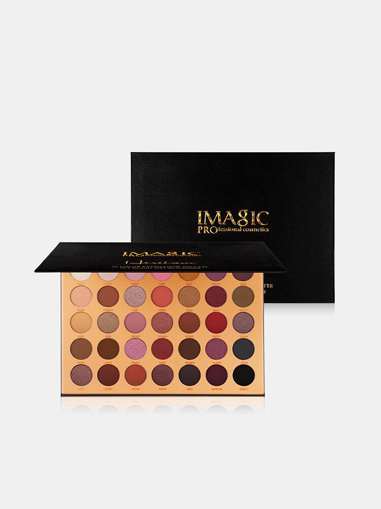 IMAGIC Paleta de sombras de ojos mate nude de 35 colores Brilho Impermeable Paleta de sombras de ojos de larga duración