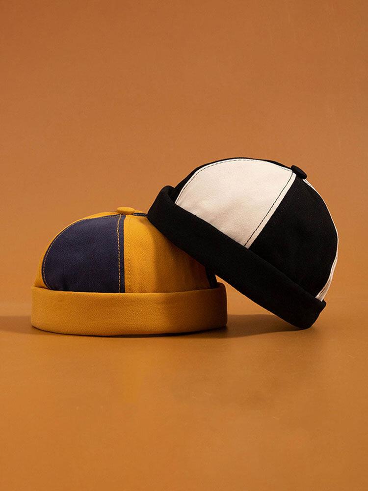 メンズ&レディースファッションコットンマルチカラーハットつばのない帽子スカルキャップ