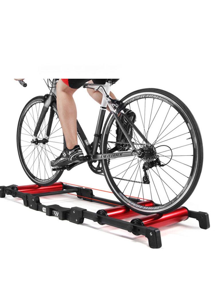 <US Instock> Rouleaux d'entraîneur de vélo exercice à domicile intérieur Rodillo Bicicleta entraînement de cyclisme Fitness entraîneur de vélo vtt rouleaux de vélo de route