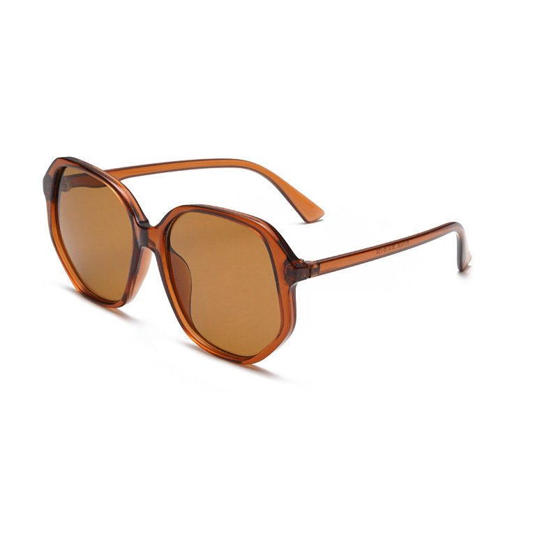 Ladies_Transparent_AntiUV_LightIrregular_Frame_Outdoor_Leisure_Fashion_Sunglasses