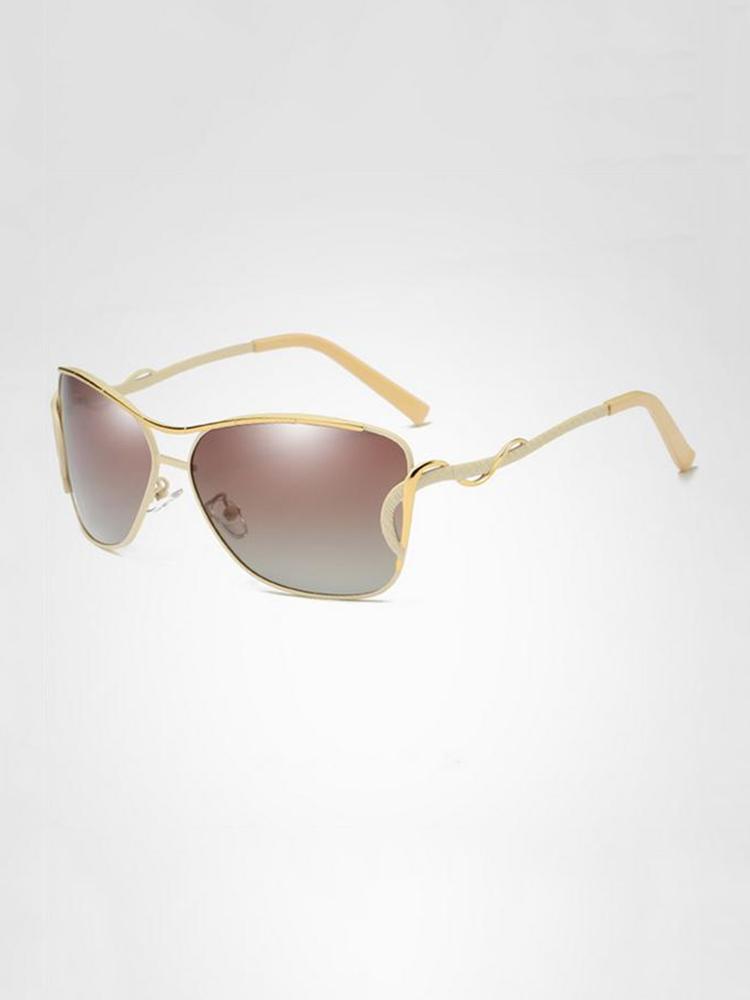 Women Vintage HD Polarized Sunglasses Outdoor Sunshade Anti-UV Driving Goggle Eyeglasses