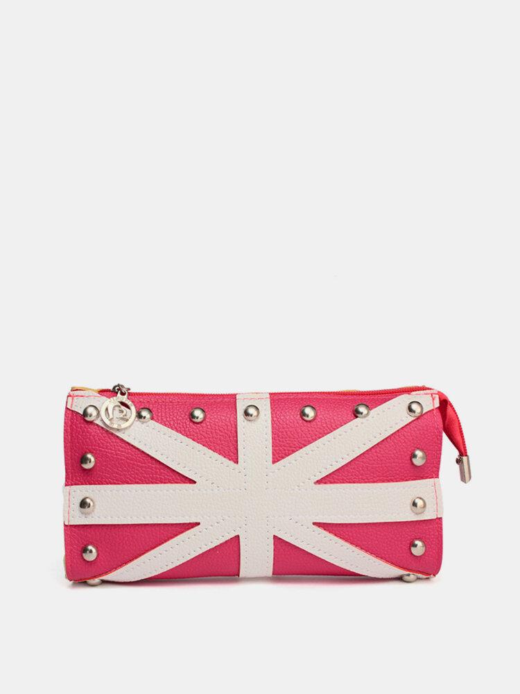 Stylish PU Leather Rivet Wallet