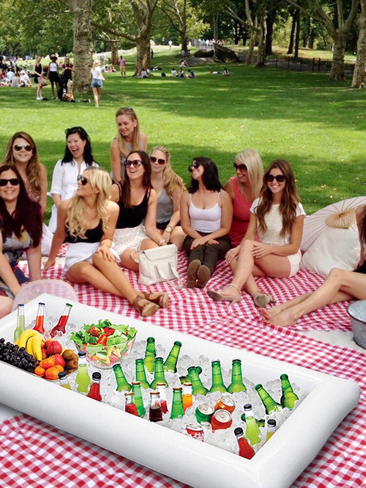 Pvc Inflatable Ice Bar Water Entertainment Salad Plate Inflatable Cup Holder