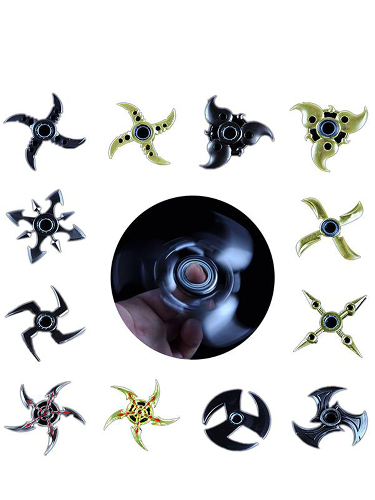 Hand Spinner Tri Fidget Metal Finger Spin Focus EDC Toys For Rotating Stress Reliever