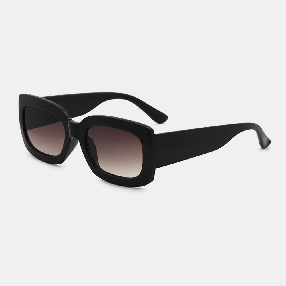 Women Full Thick Frame Classical Casual Summer UV Protection Square Shape Sunglasses