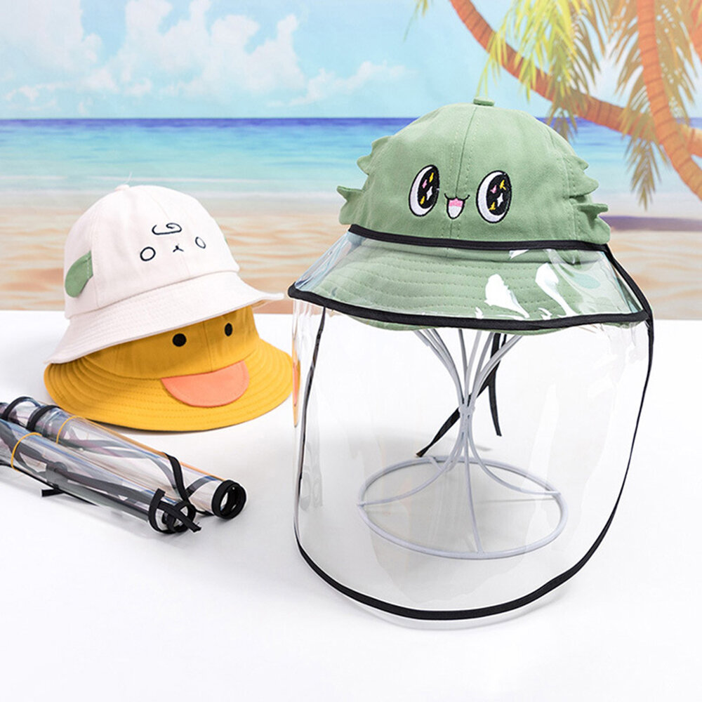 Cute Cartoon Children's Dust Fisherman Hat Removable Face Screen