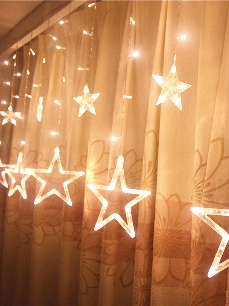 5M 138LEDs chaîne de lumières en forme d'étoile rideau de lumières décoration pour maison fête mariage