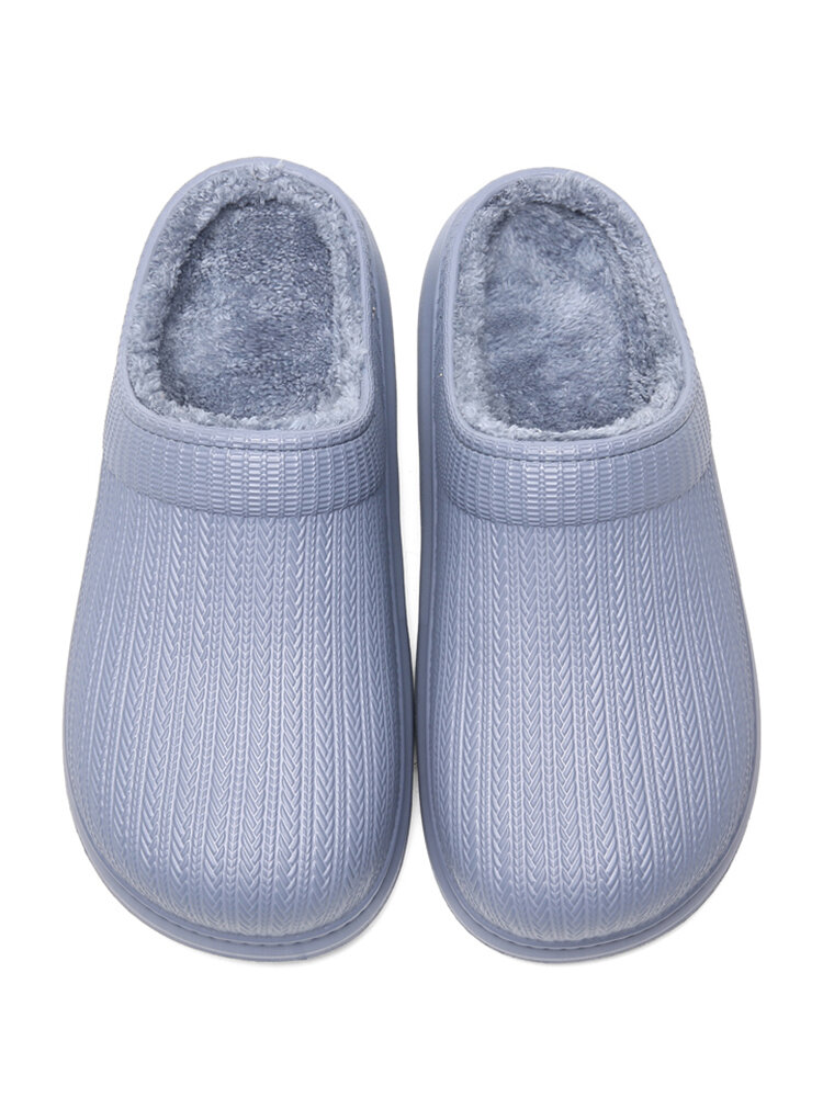 Men Stain Resistant Waterproof Non Slip Wearable Sole Home Cotton Slippers