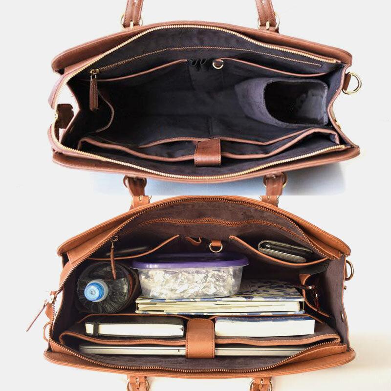 Women Multi-pocket Large Capacity 15.6 Inch Laptop Bag Briefcase Business Handbag Crossbody Bag Tote