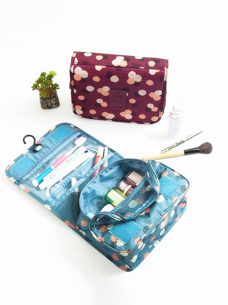 Waterproof Tidy Wash Cosmetic Bag Compact Makeup Storage Bag Case Bathroom Organizer