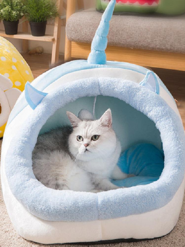 猫のトイレペット猫ユルト漫画猫ヴィラフォーシーズンズユニバーサルセミクローズ猫ケージペット用品