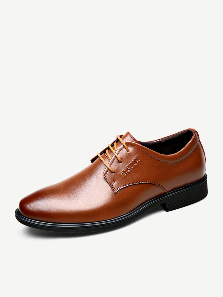 Men Cow Leather Non Slip Soft Sole Business Casual Formal Shoes