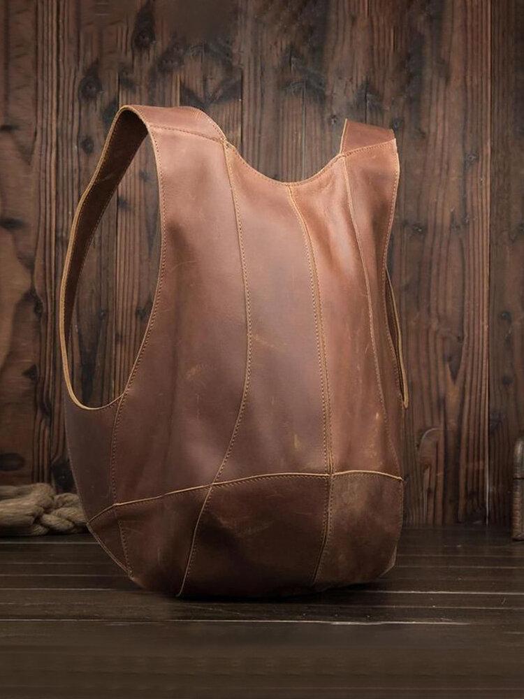 Women Men PU Leather Vintage Anti-theft Bag Backpack