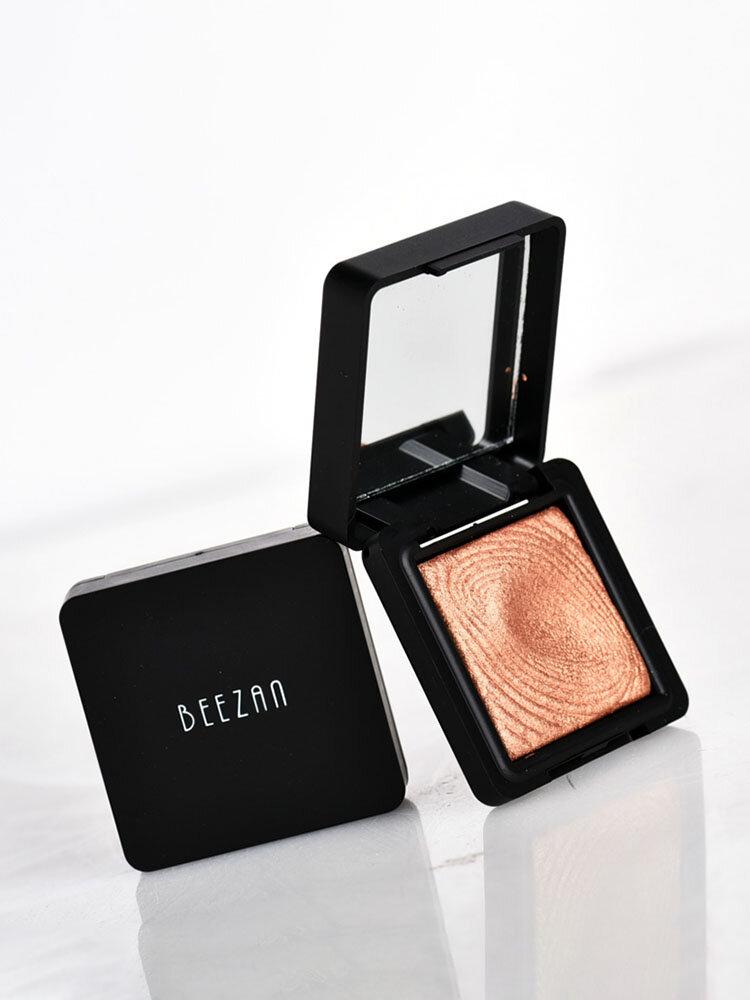 Beezan Baked Glitter Paleta de sombras de ojos Naked Waterproof Mineral Shimmer Metálico Eye Shadow Powder