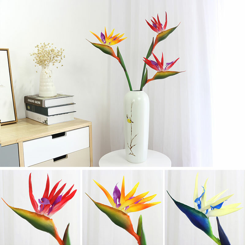 70/90 cm Silicone Bird Of Paradise Artificial Flower Family Party Flower Home Decoration Living Room