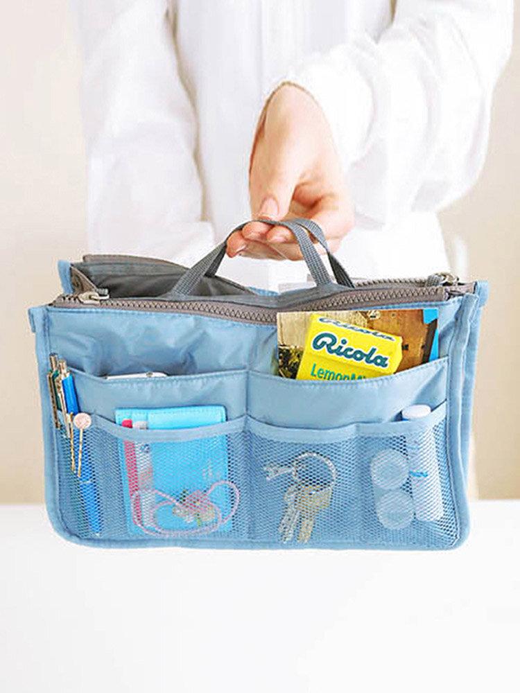 Women Travel Insert Handbag Nylon Large Liner Organizer Tidy Bag Cosmetic Bag